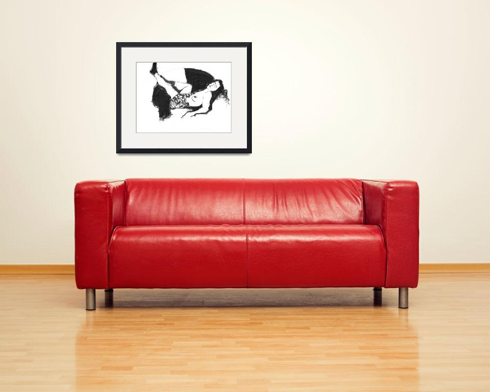 """Stephanie on Sofa&quot  (1996) by geneclements"