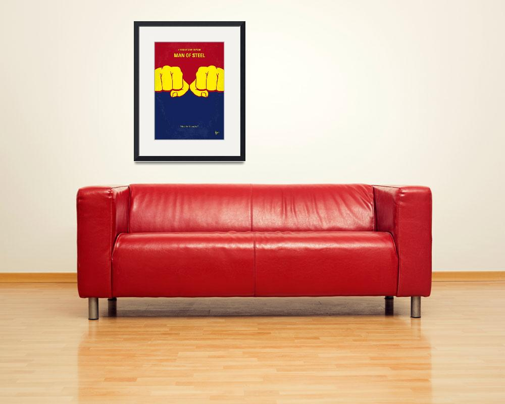 """""""No447 My Men of steel minimal movie poster&quot  by Chungkong"""