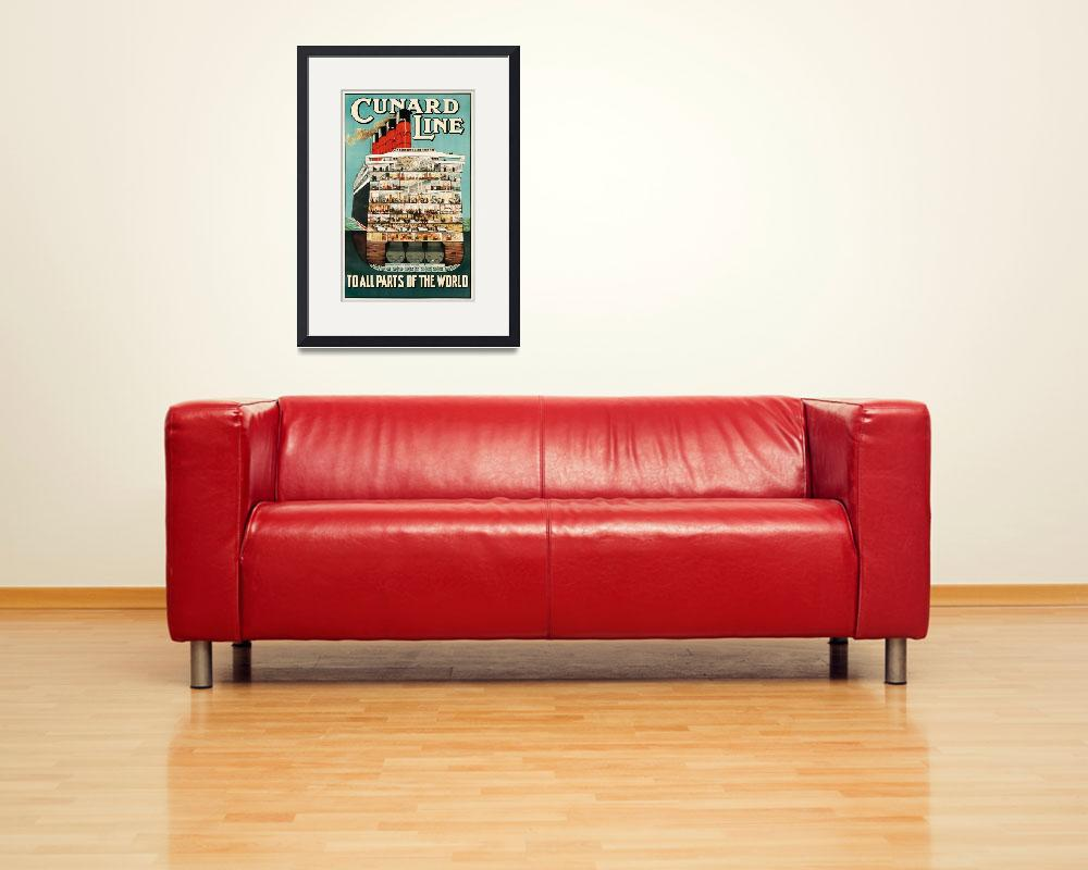 """""""Cunard Line Vintage Poster&quot  by FineArtClassics"""