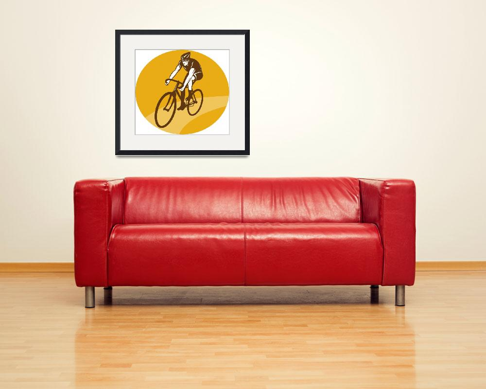 """Cyclist riding racing bike""  (2013) by patrimonio"