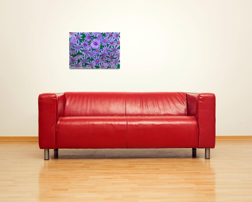 """""""Purple Daisies&quot  (2010) by sharonblanchard"""