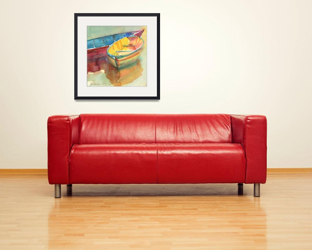 """Little Yellow Boat&quot  (2012) by YevgeniaWatts"