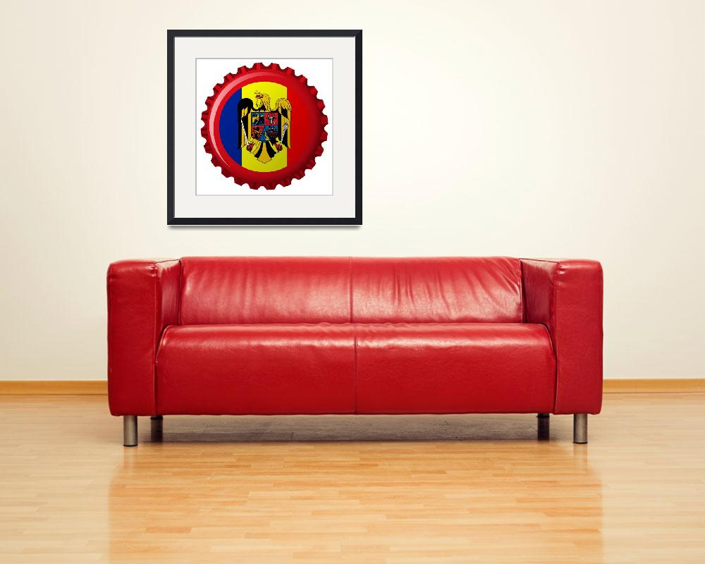 """""""romania abstract flag on bottle cap&quot  by robertosch"""