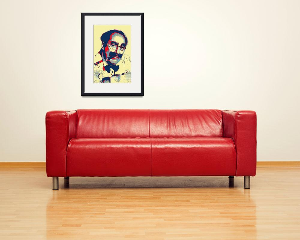 """Groucho Marx""  (2012) by ArtCinemaGallery"
