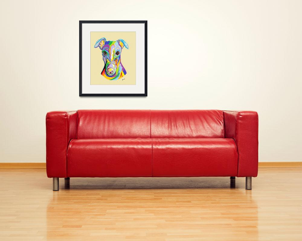 """""""Greyhound&quot  by EloiseArt"""