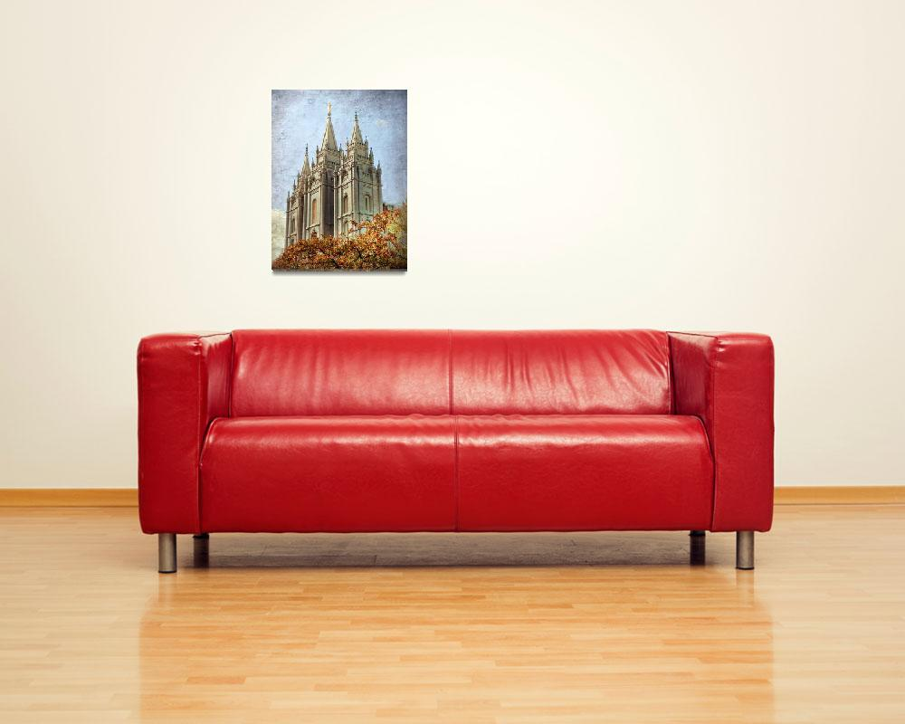 """Salt lake temple HDR with texture""  by houstonryan"