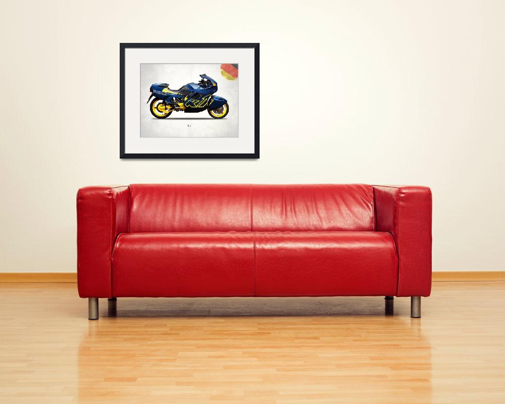 """""""The BMW  K1 Motorcycle&quot  (1989) by mark-rogan"""