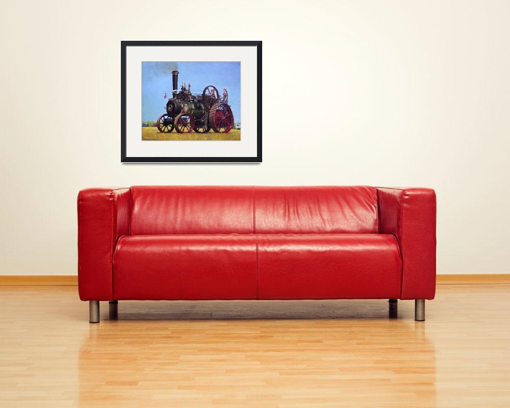 """steam traction engine Ransomes Sims and Jefferies&quot  (2011) by martindavey"