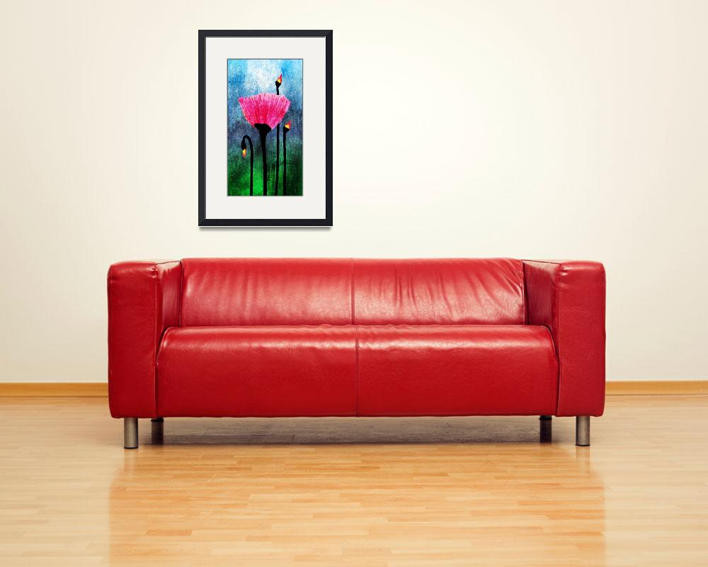 """32a Expressive Floral Poppies Painting Digital Art&quot  (2016) by Ricardos"