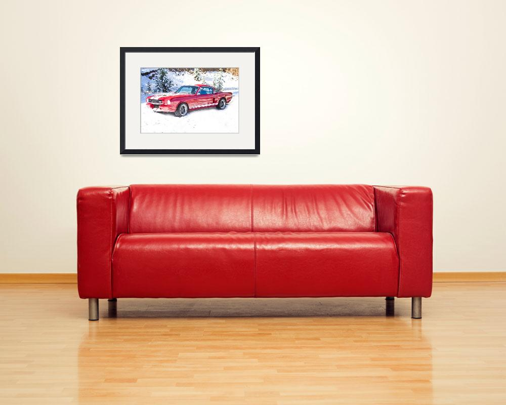 """""""Red Ford Mustang Shelby 1966&quot  (2011) by lightningman"""