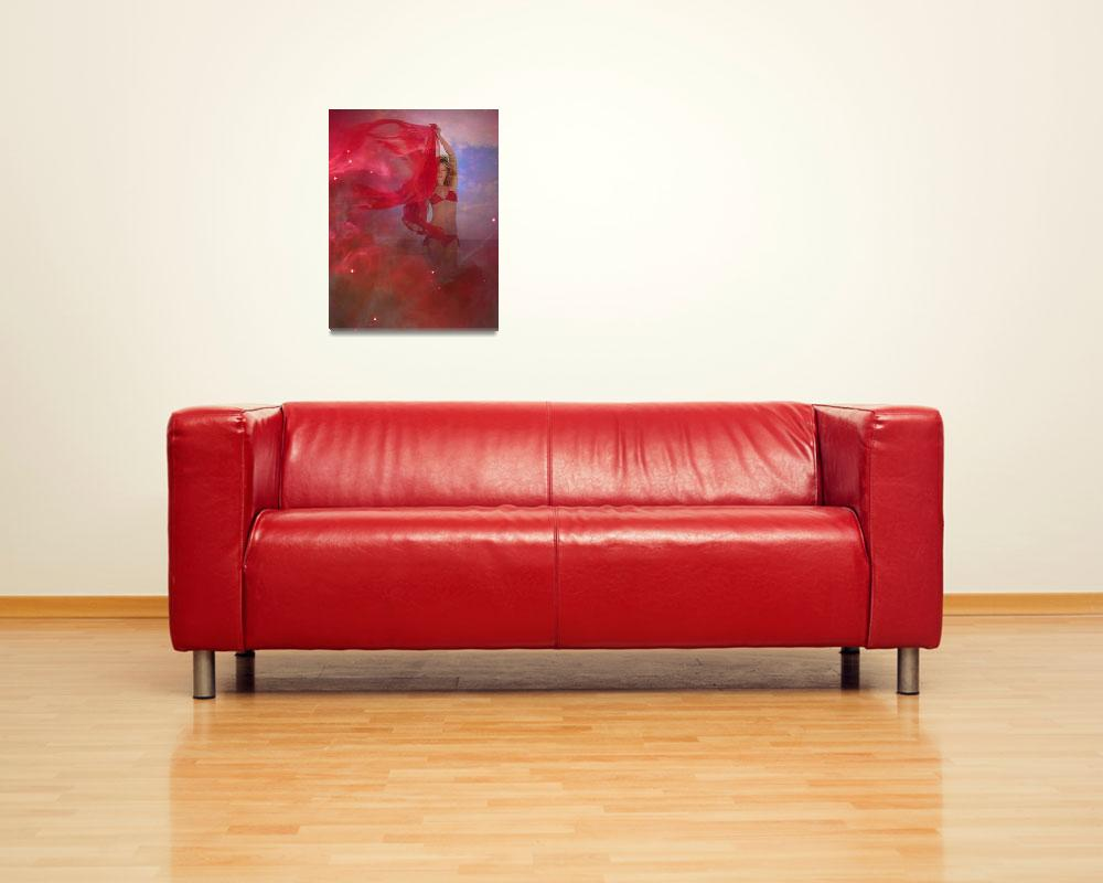 """""""angel in red chiffon&quot  (2009) by tomasdelamo"""