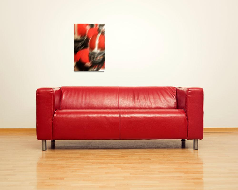 """""""Red and White Football""""  by Cheshireartisan"""