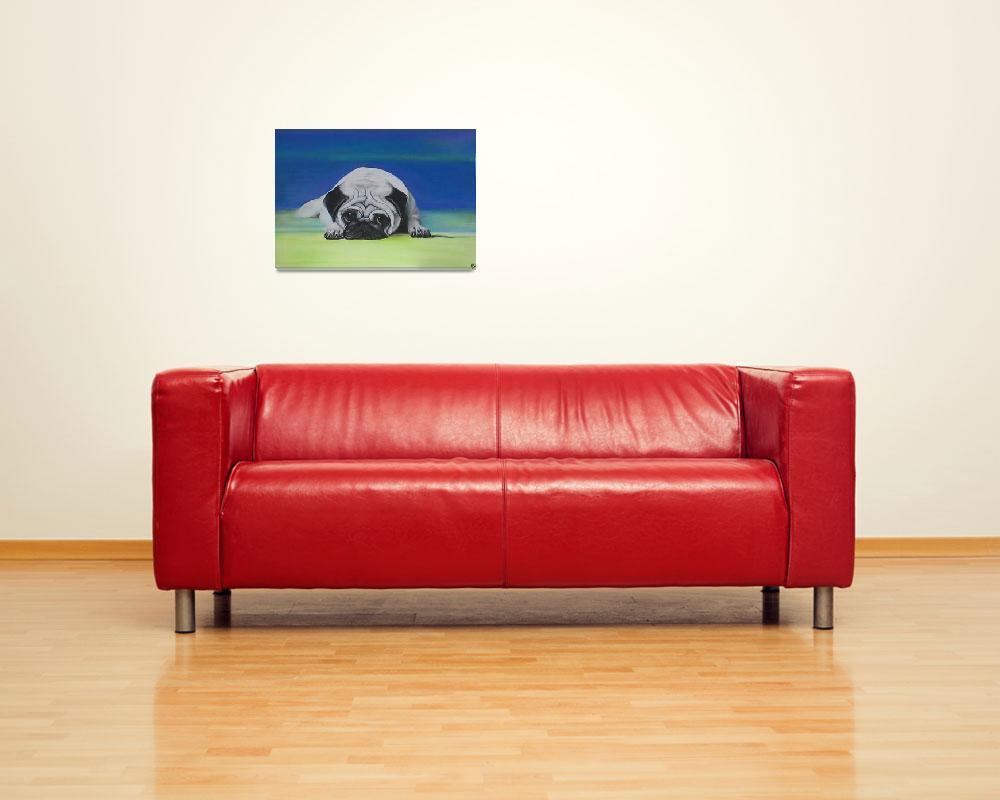 """Pug Dog&quot  (2006) by ArtPrints"