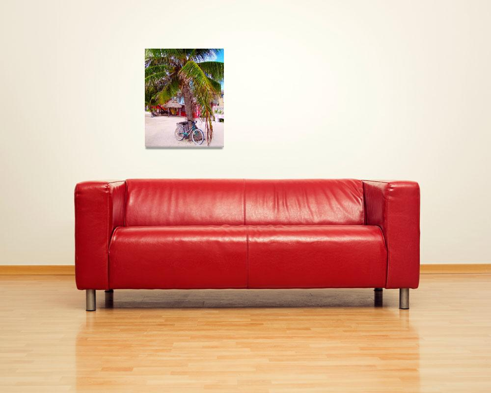 """""""Bicycle and Palm&quot  (2014) by TealDesign"""