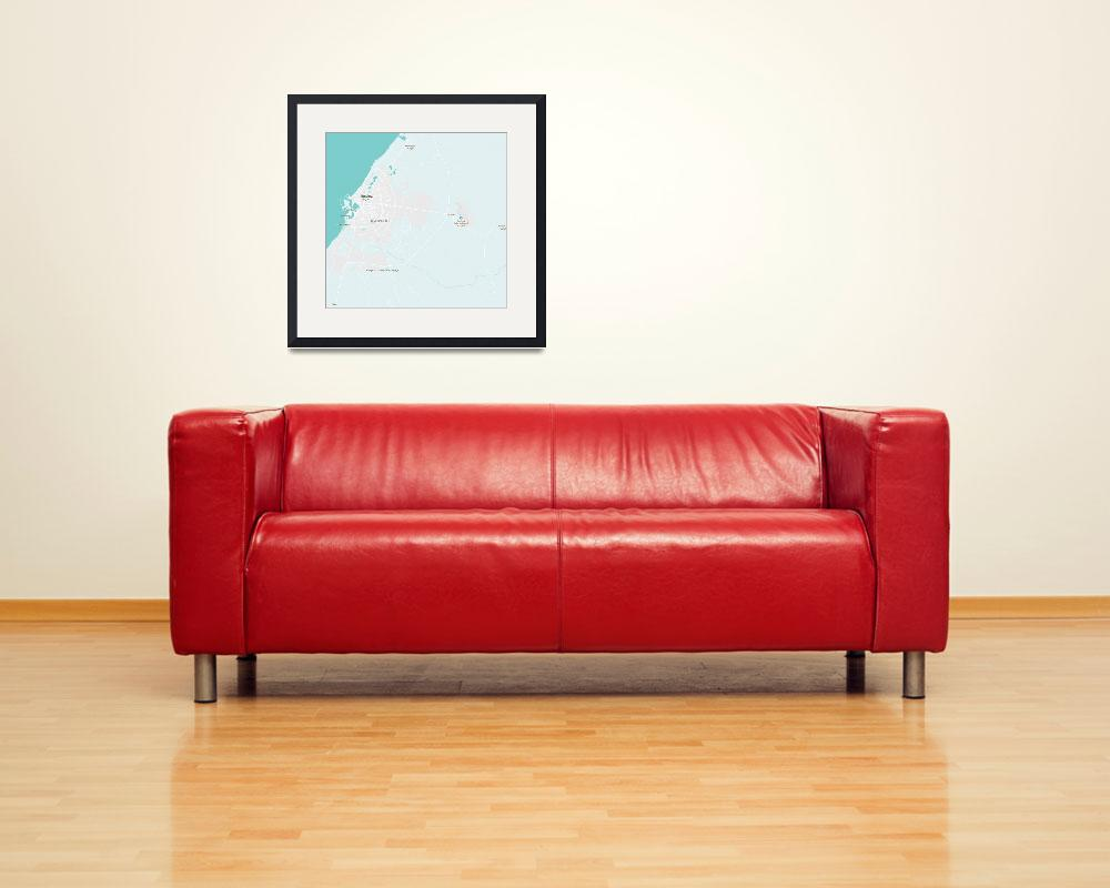 """Minimalist Modern Map of Benghazi, Libya 1&quot  by motionage"