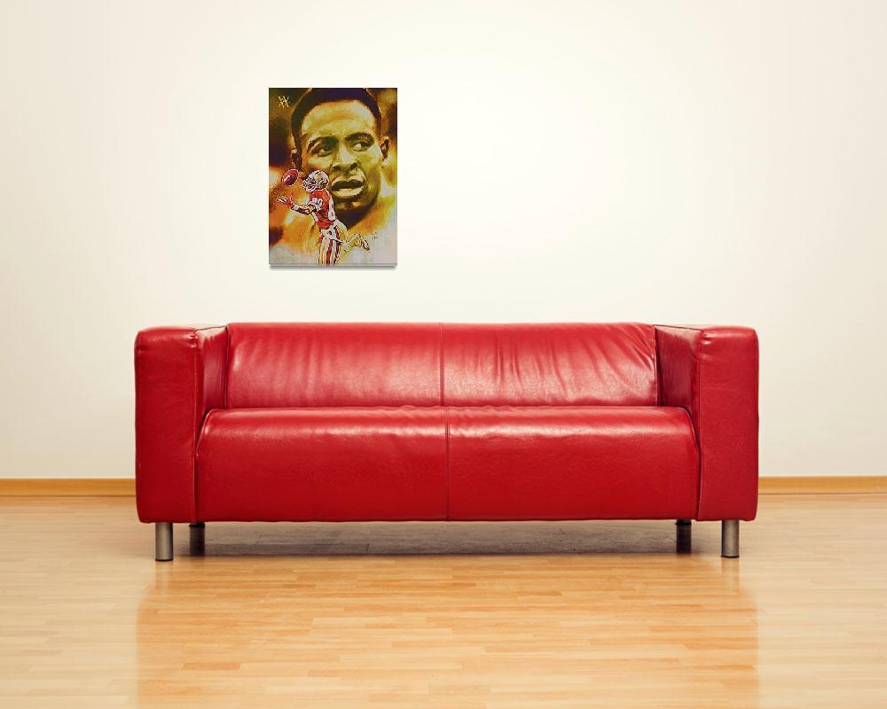 """""""Jerry Rice, San Francisco 49ers, NFL Art""""  (2011) by artofvela"""