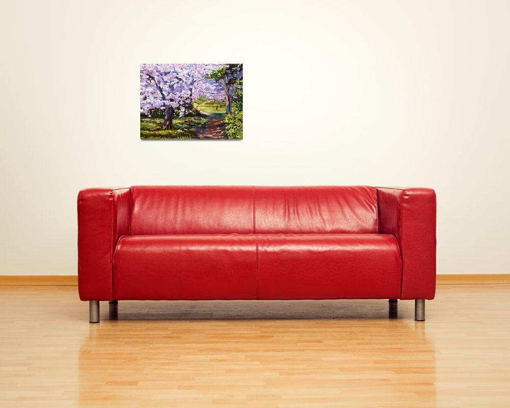 """Blossom Season - Plein Air""  (2006) by DavidLloydGlover"