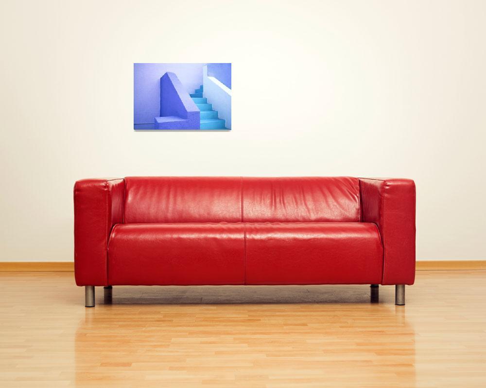 """Blue Stairs Miami #2""  by KOsburn"