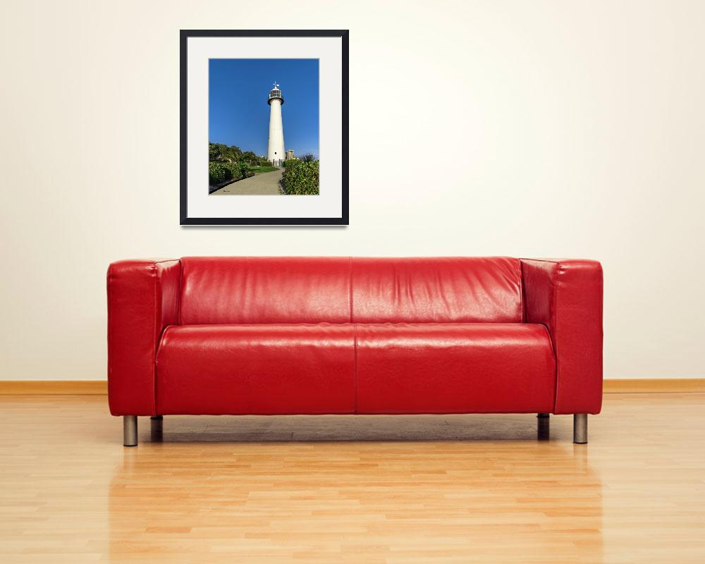 """Gulf Coast Lighthouse Seascape Biloxi MS 3773A""  (2018) by Ricardos"
