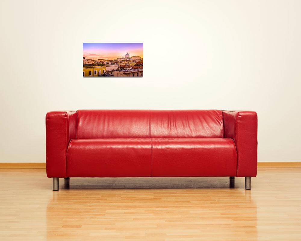 """Saint Peter Church (Vatican City) - View""  (2014) by melanzata"