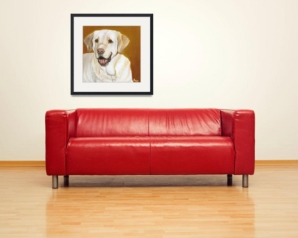"""""""Yellow Lab&quot  by MichelleNoe"""