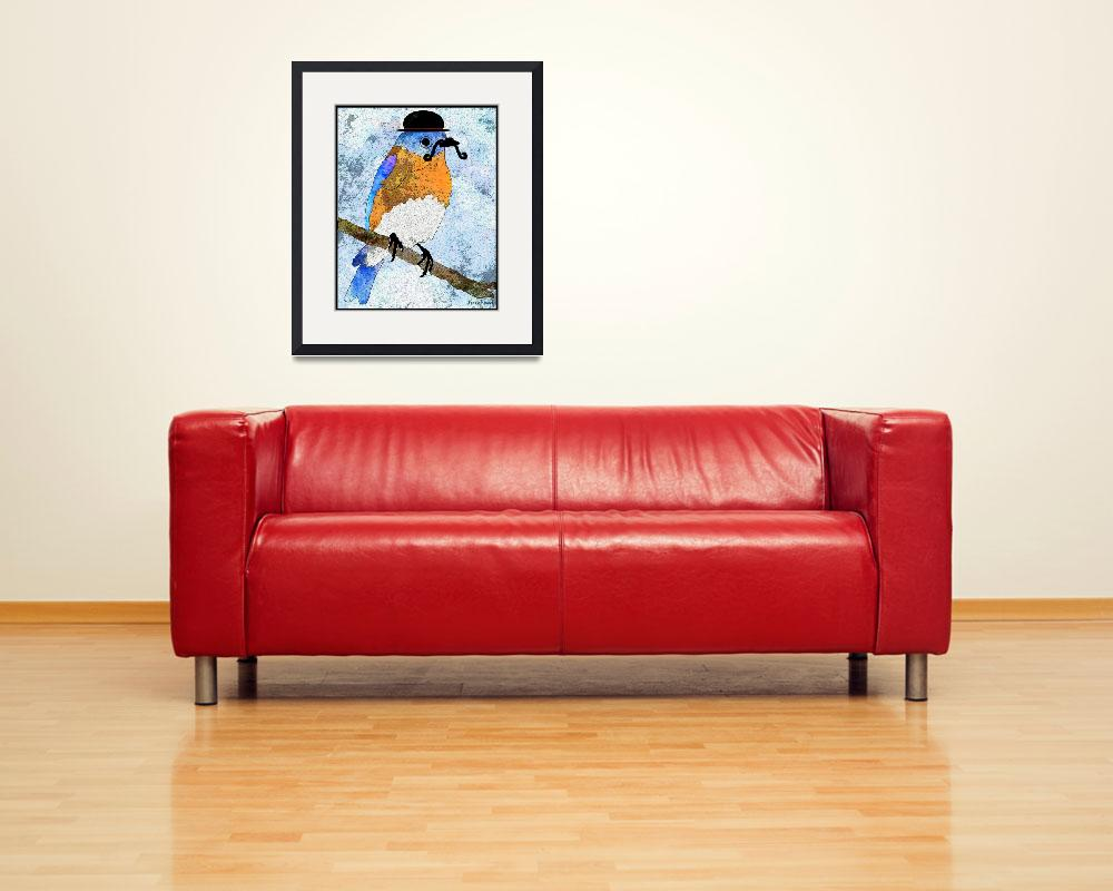 """""""Oliver Bluebird&quot  (2012) by denisebeverly"""