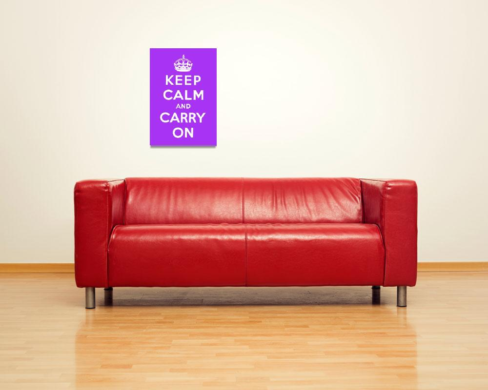 """Purple Keep Calm And Carry On 5&quot  by oldies"
