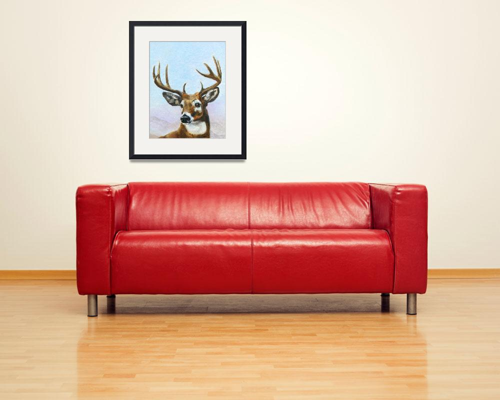 """""""Regal Stag- white tailed deer by Violano""""  (2009) by stella"""