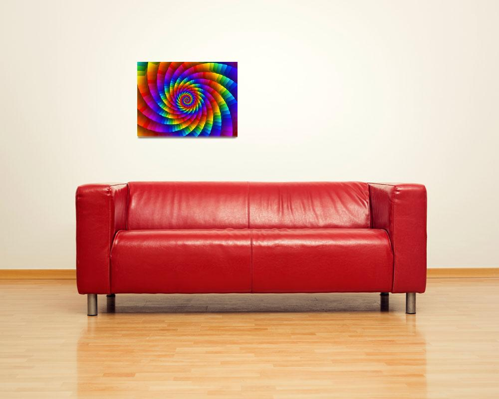 """""""Psychedelic Rainbow Spiral""""  (2013) by kittybitty"""