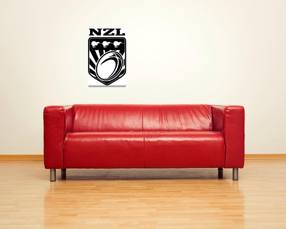 """new zealand kiwi rugby league shield&quot  (2013) by patrimonio"