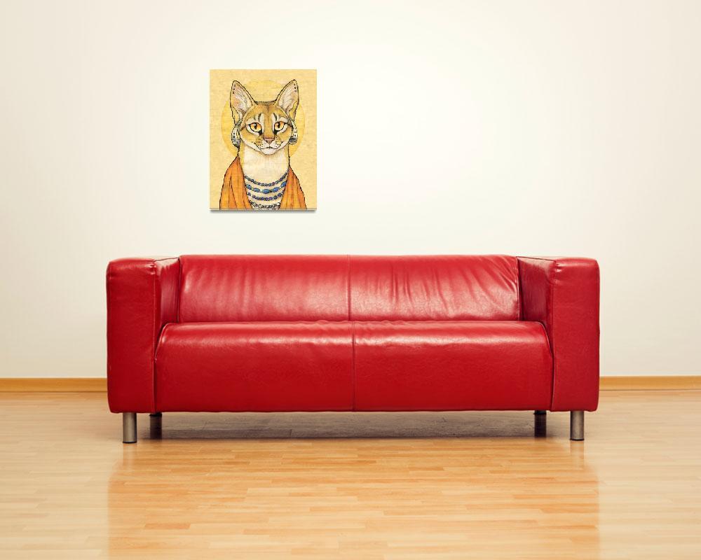 """""""Abyssinian Cat Portrait - Papyrus Cat&quot  (2008) by smbittler"""