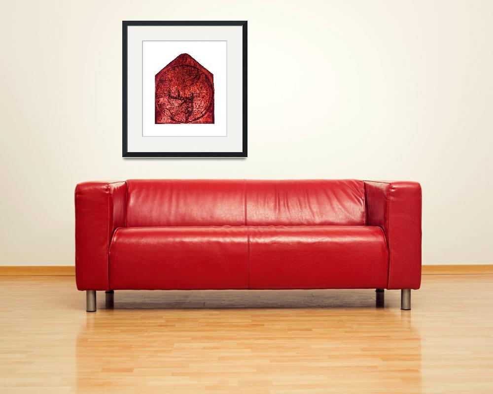"""""""Hereford Mappa Mundi Red Tint Largest White Border&quot  (2014) by TheNorthernTerritory"""