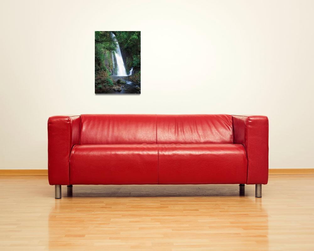 """Chorros falls,Costa Rica""  (2004) by Leksele"