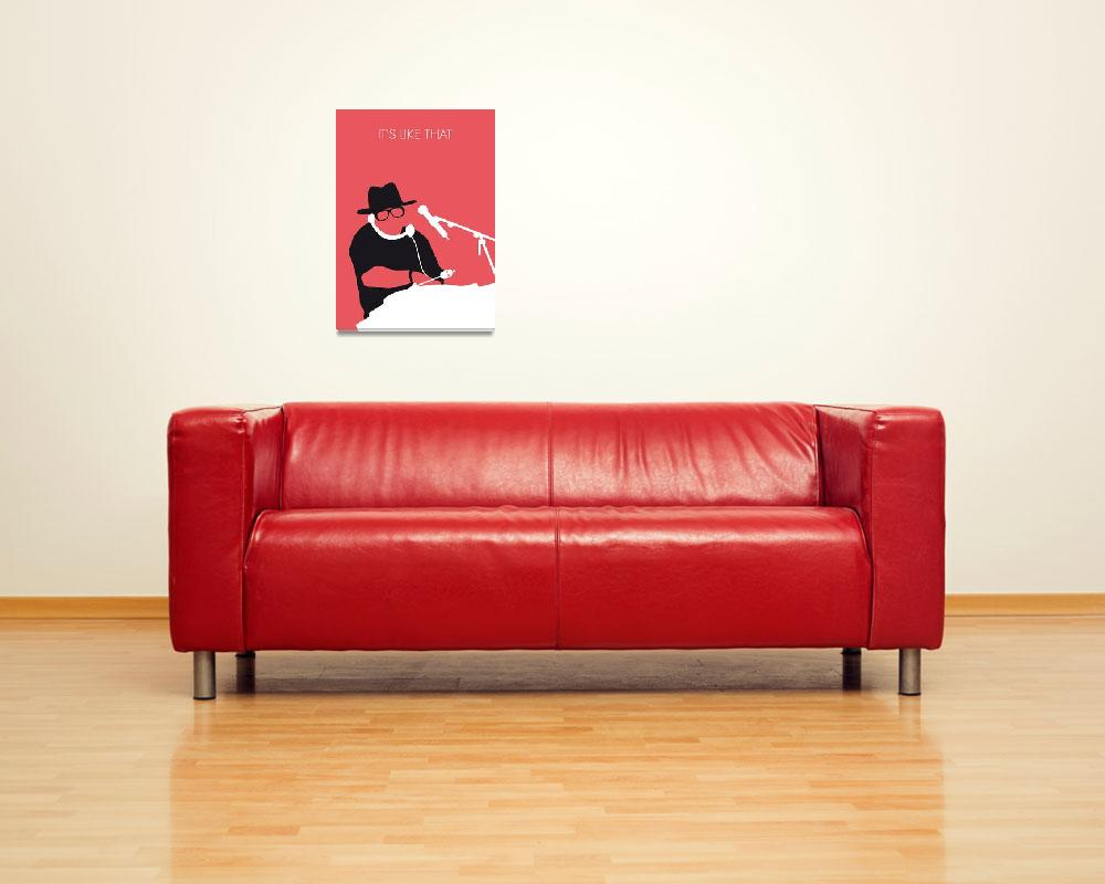 """No022 MY RUN DMC Minimal Music poster&quot  by Chungkong"