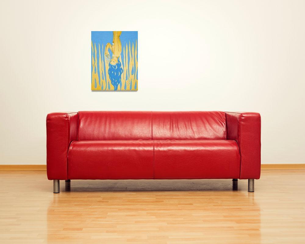 """""""Blue & Yellow Bleeding Heart""""  (2010) by camilarosa"""
