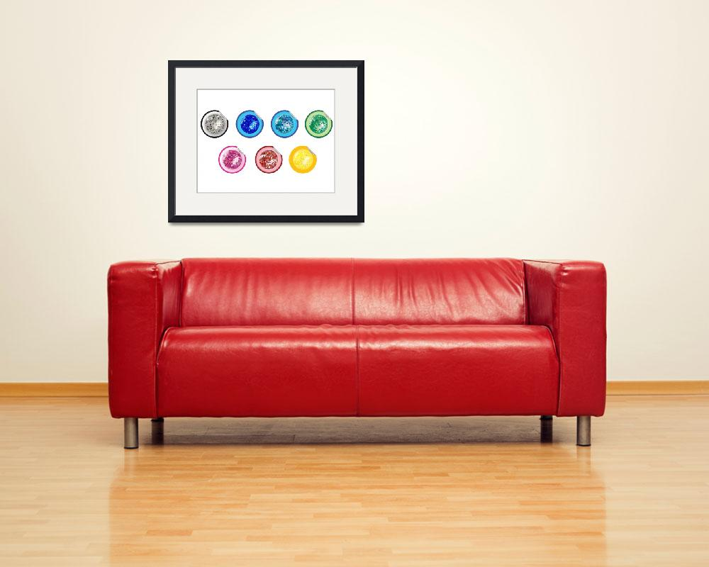 """""""colored disco ball stickers collection""""  by robertosch"""