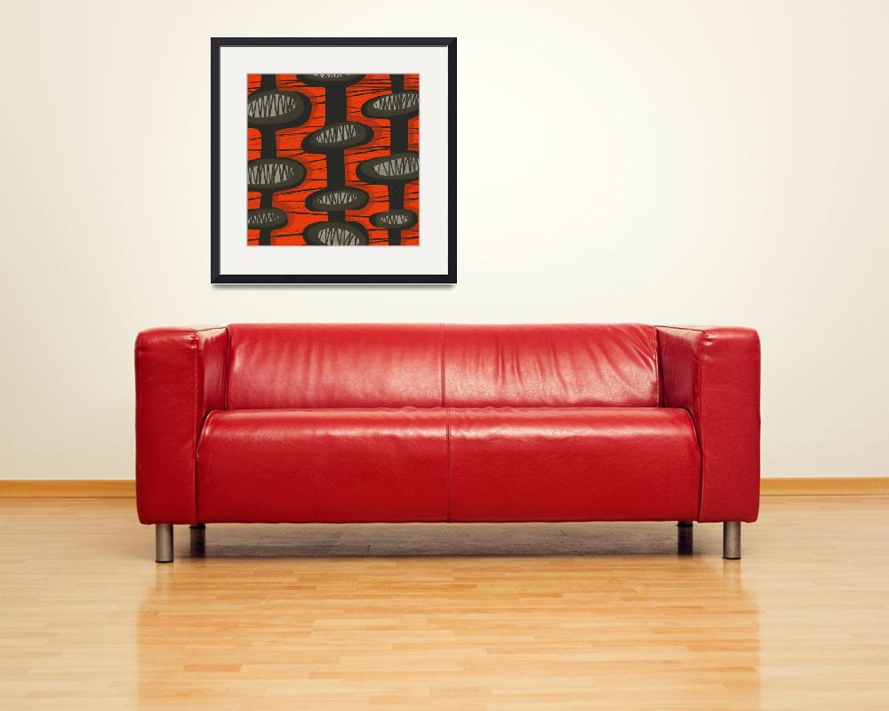 """""""Abstract: Mid Century Modern Retro Red&quot  (2016) by pfleghaar"""