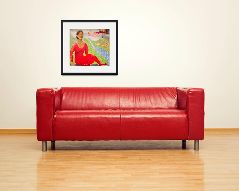 """""""""""The Lady In Red""""&quot  by RachelScottArt"""