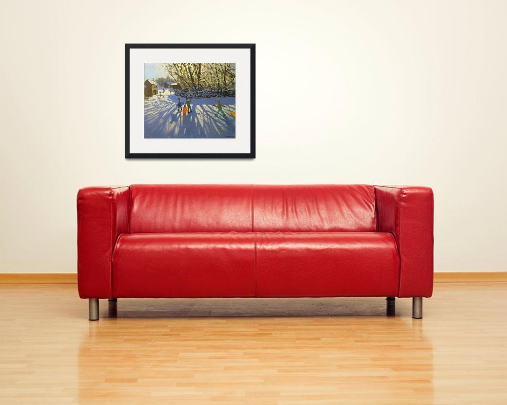 """""""Red sledge, Monyash, Derbyshire&quot  by fineartmasters"""