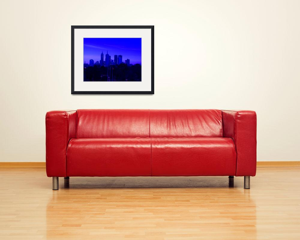 """Abstracted Melbourne Skyline""  (2010) by davidflurkey"