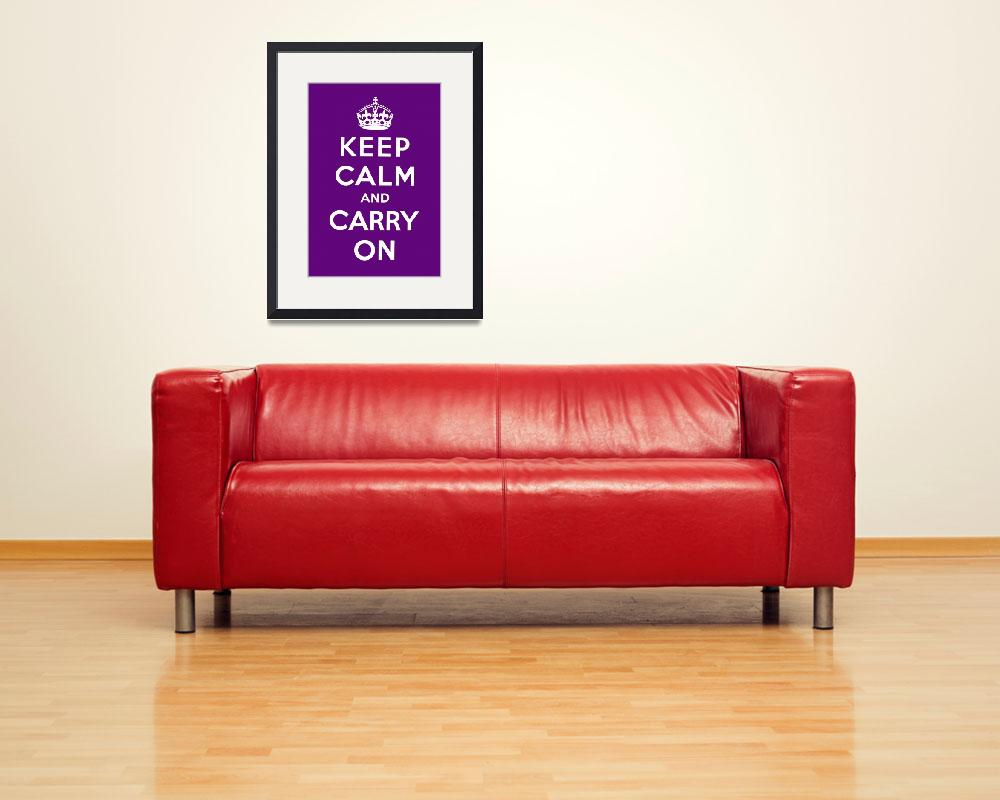"""Purple Keep Calm And Carry On 7""  by oldies"