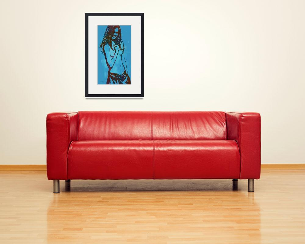 """""""Pop art nude etching poster&quot  (2014) by visualharbour"""