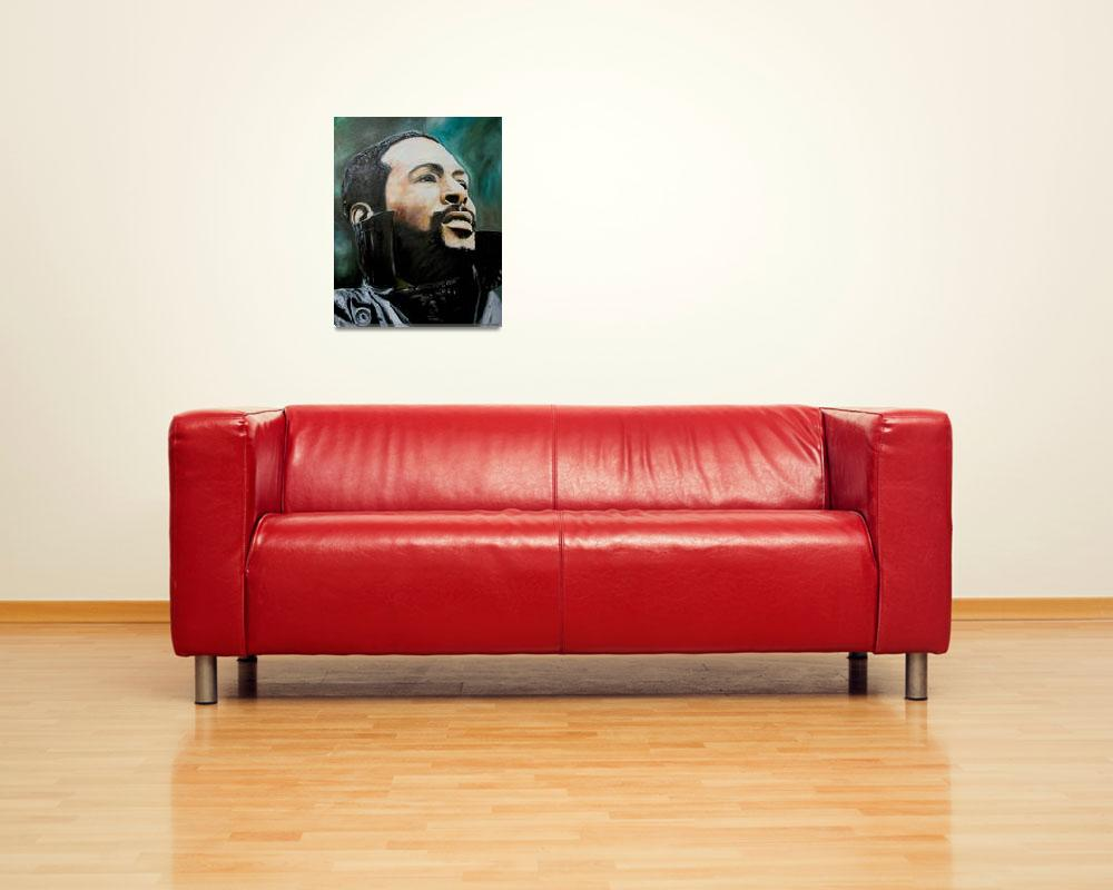 """Marvin Gaye""  (2008) by iconicarts"