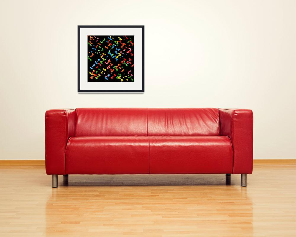 """""""Blobs&quot  (2009) by mikesartworks"""