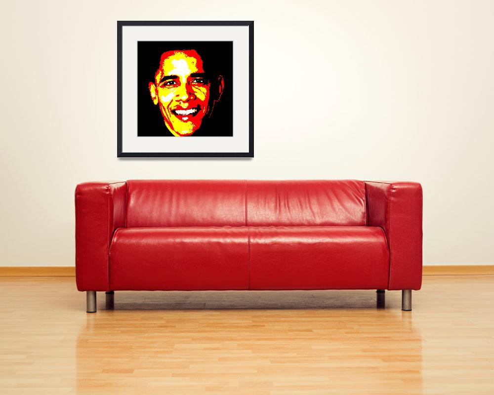 """""""obama-good-posterized-4000&quot  by Lonvig"""
