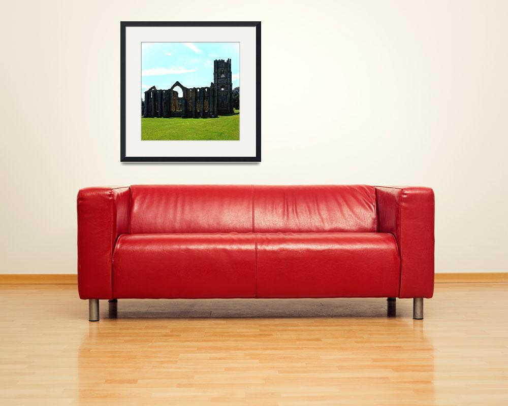 """""""Fountains Abbey in Summer 13&quot  (1990) by PriscillaTurner"""