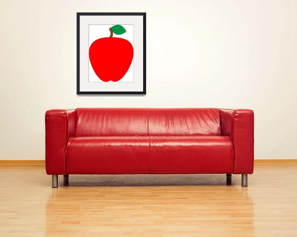 """Single Red Apple Fruit Food&quot  (2018) by ValeriesGallery"