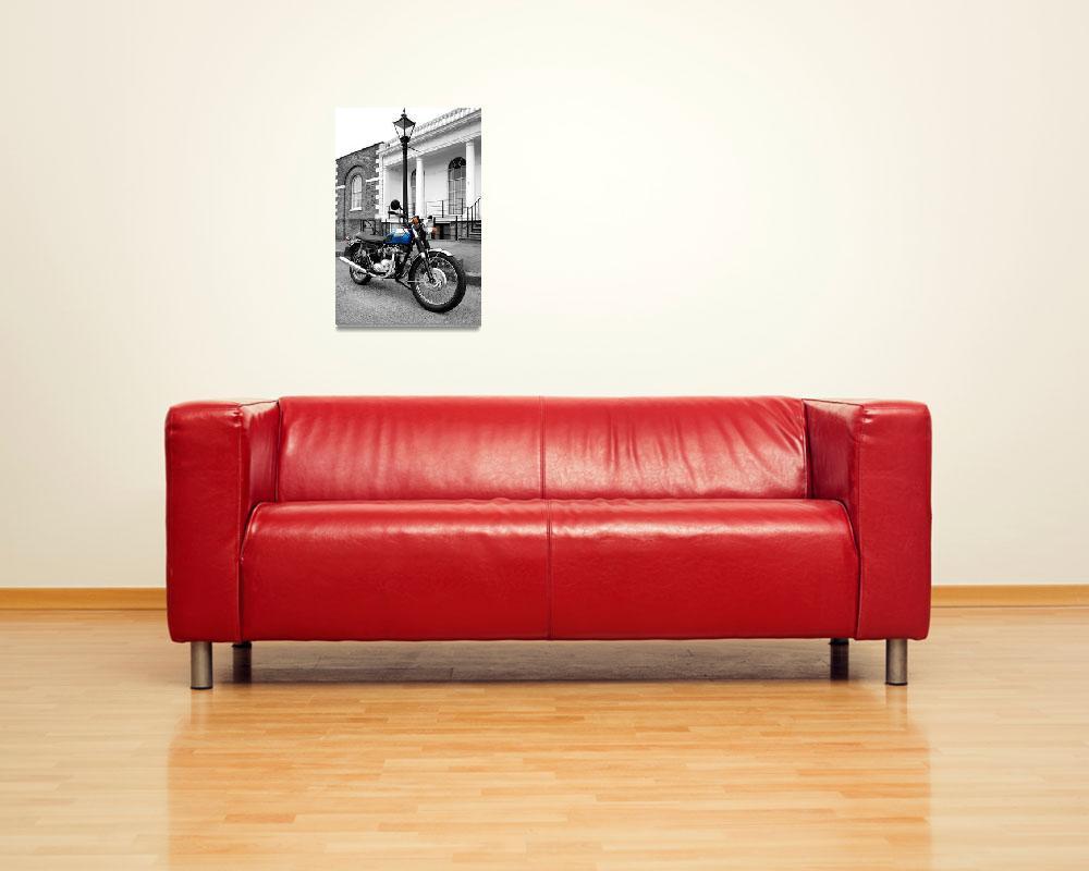"""The T100R Daytona Classic Motorcycle""  by mark-rogan"