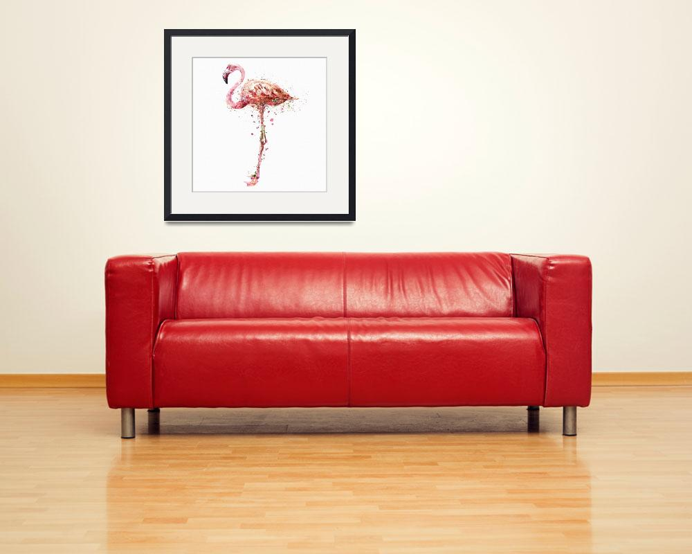 """""""Flamingo Watercolor Painting&quot  (2015) by MarianVoicu"""