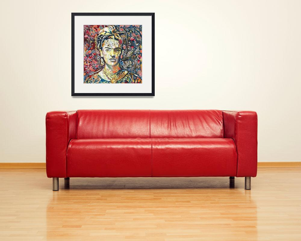 """""""Frida Black and Red&quot  (2018) by RDRiccoboni"""